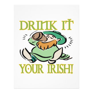 Drink It Your Irish Personalized Flyer