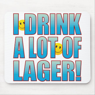 Drink Lager Life B Mouse Pad