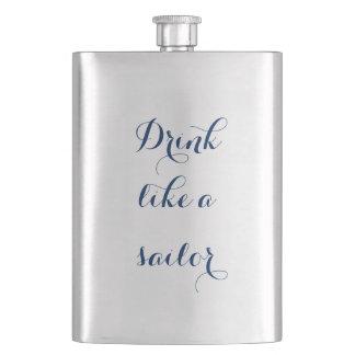 Drink Like a Sailor Hip Flask