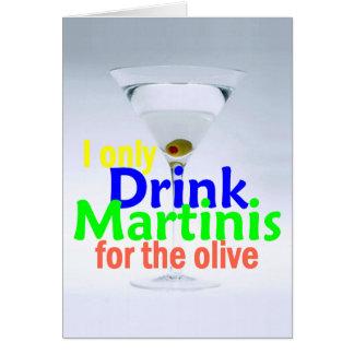 Drink MARTINIS Olives Gin Vodka Card