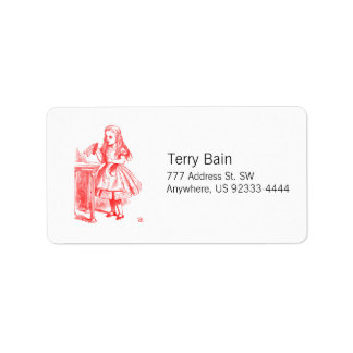 Drink Me (Alice) Address Label