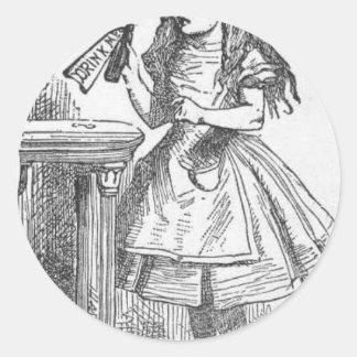 Drink Me, Alice in Wonderland Classic Round Sticker