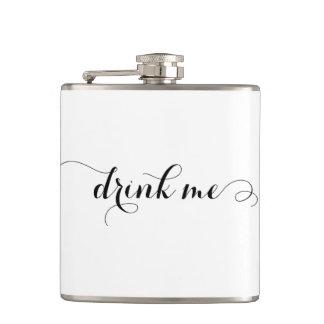 Drink Me Elegant Script Flask