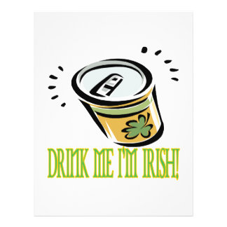 Drink Me Im Irish Full Color Flyer