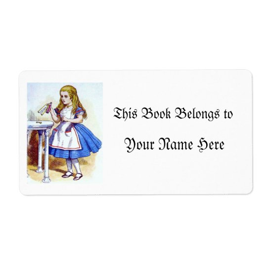 """Drink Me"" Potion with Alice Shipping Label"