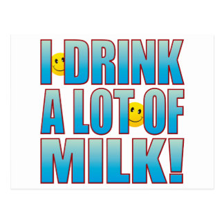 Drink Milk Life B Postcard