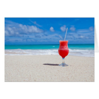 Drink On Beach greeting card