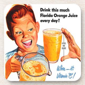 DRINK ORANGE JUICE coaster