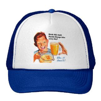 DRINK ORANGE JUICE hat