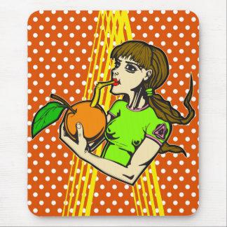 Drink Orange Juice Mouse Pad