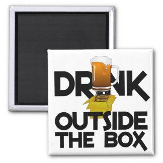 Drink Outside the Box magnet