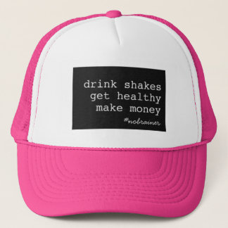 Drink Shakes #nobrainer Black Box Trucker Trucker Hat
