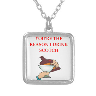 DRINK SILVER PLATED NECKLACE