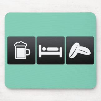 Drink, Sleep and Arabica Coffee Mouse Pad
