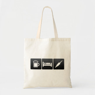 Drink, Sleep and audio cables Budget Tote Bag