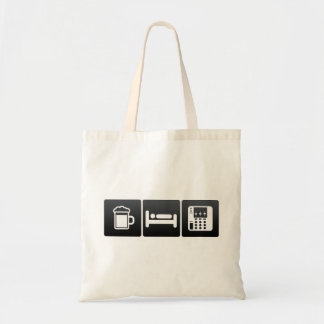 Drink, Sleep and audio mixers Budget Tote Bag