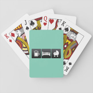 Drink, Sleep and Baby Carriages Poker Deck