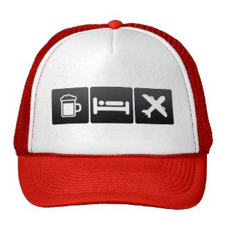 Drink, Sleep and jumbo jets Cap