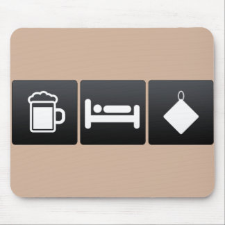 Drink, Sleep and Kitchen Towels Mouse Pad