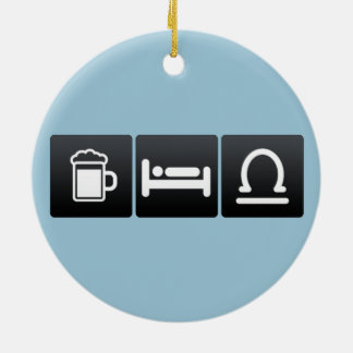 Drink, Sleep and Libras Double-Sided Ceramic Round Christmas Ornament