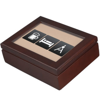 Drink, Sleep and Surveying Equipment Keepsake Box