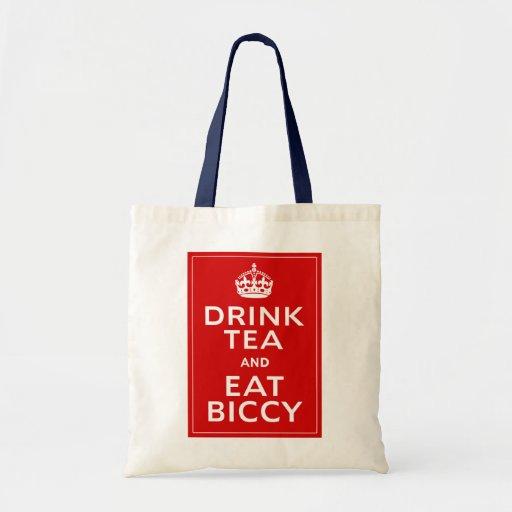 Drink Tea and Eat Biccy ~ British Fun Tote Bag