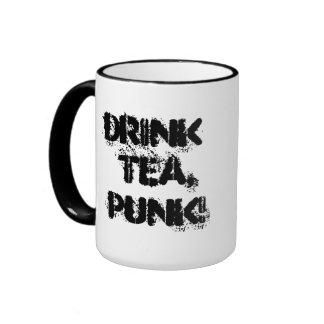 Drink Tea, Punk! 15oz Mug For Righties