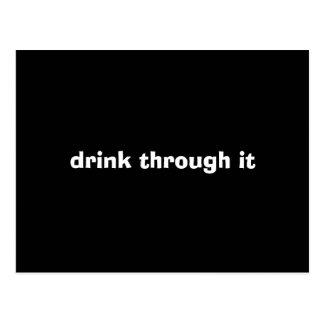 drink through it postcard