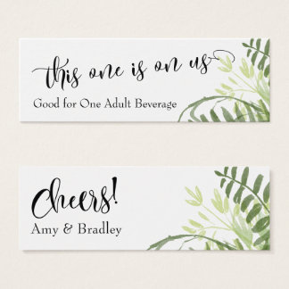 Drink Tickets | Abstract Greenery, Foliage Bouquet