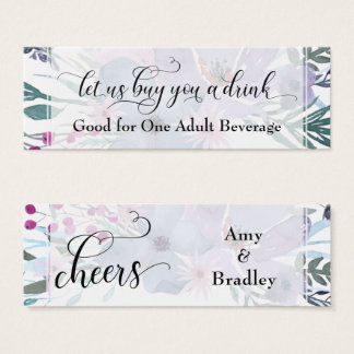Drink Tickets | Colorful Watercolor Flower Bouquet