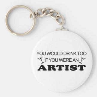 Drink Too - Artist Keychain
