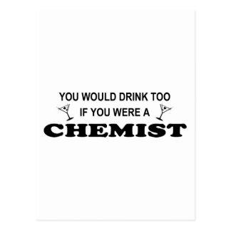 Drink Too - Chemist Postcard