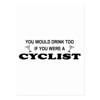 Drink Too - Cyclist Postcard