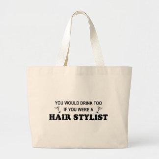 Drink Too - Hair Stylist Tote Bags