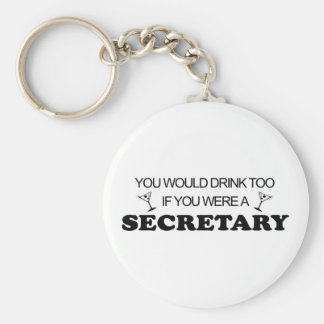 Drink Too - Secretary Key Ring