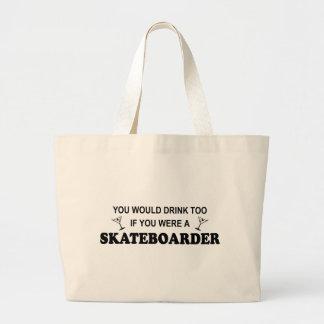 Drink Too - Skateboarder Canvas Bag