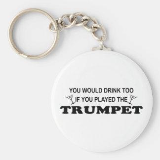 Drink Too - Trumpet Key Ring