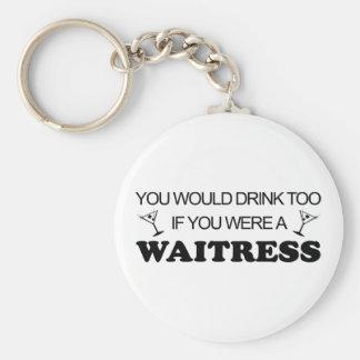 Drink Too - Waitress Key Ring