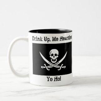 Drink Up, Me Hearties Yo Ho! Two-Tone Coffee Mug
