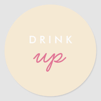Drink Up Welcome Bag Sticker