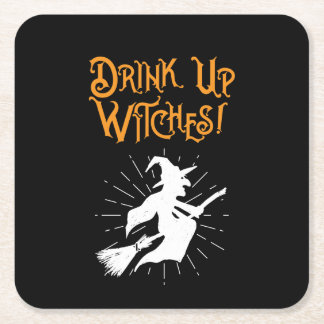 Drink Up Witches! Square Paper Coaster