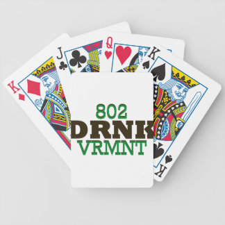 Drink Vermont Beer Local 802 Bicycle Playing Cards