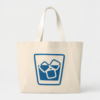 Drink with Ice Large Tote Bag