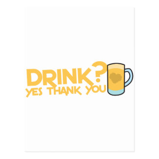 drink? yes thank you postcards