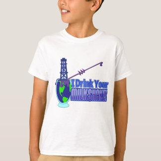 Drink Your Milkshake Design T-Shirt