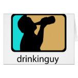Drinkin Guy Greeting Card
