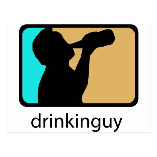 Drinkin Guy Postcard