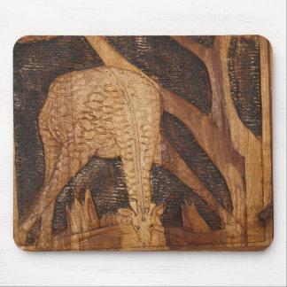 Drinking African Giraffe Mousepad