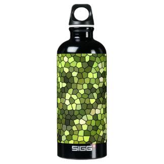 Drinking bottle green mosaic design SIGG traveller 0.6L water bottle
