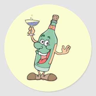 Drinking Bottle - Word Play Classic Round Sticker